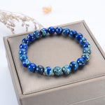 Stretch Bracelet | 8mm Beads (Lapis Blue AquaTerra)