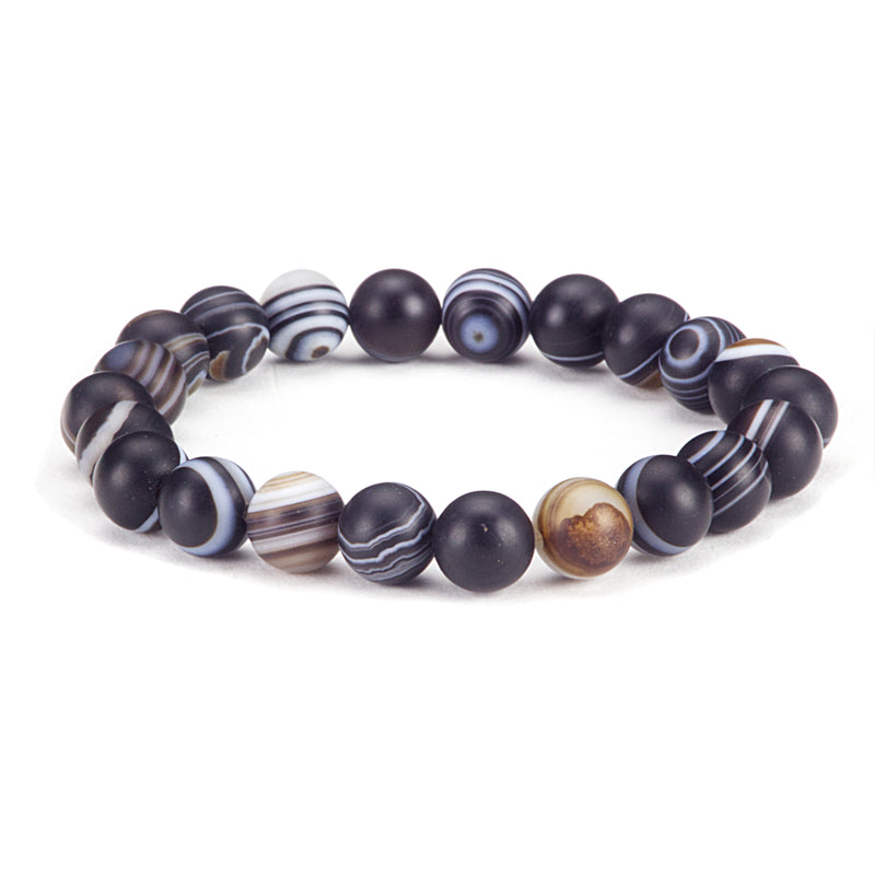 Stretch Bracelet | 8mm Beads (Matte Sardonyx)