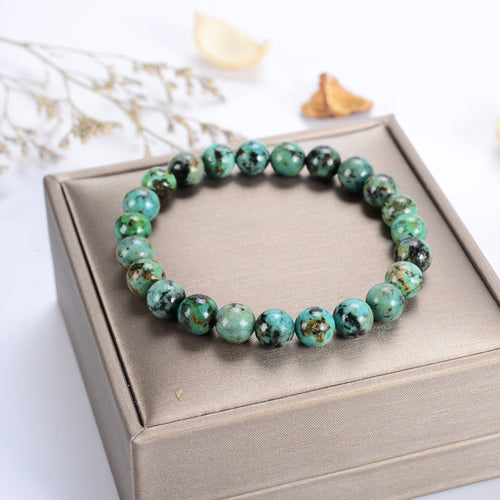 Stretch Bracelet | 8mm Beads (African Turquoise)
