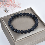 Stretch Bracelet | 8mm Beads (Matte Black Agate)