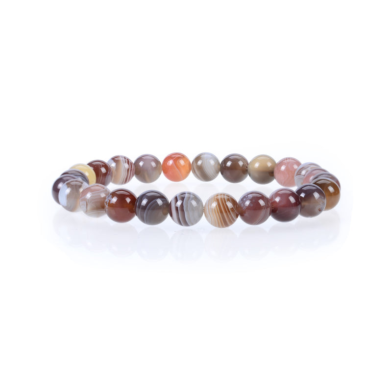 Stretch Bracelet | 8mm Beads (Botswana Agate)