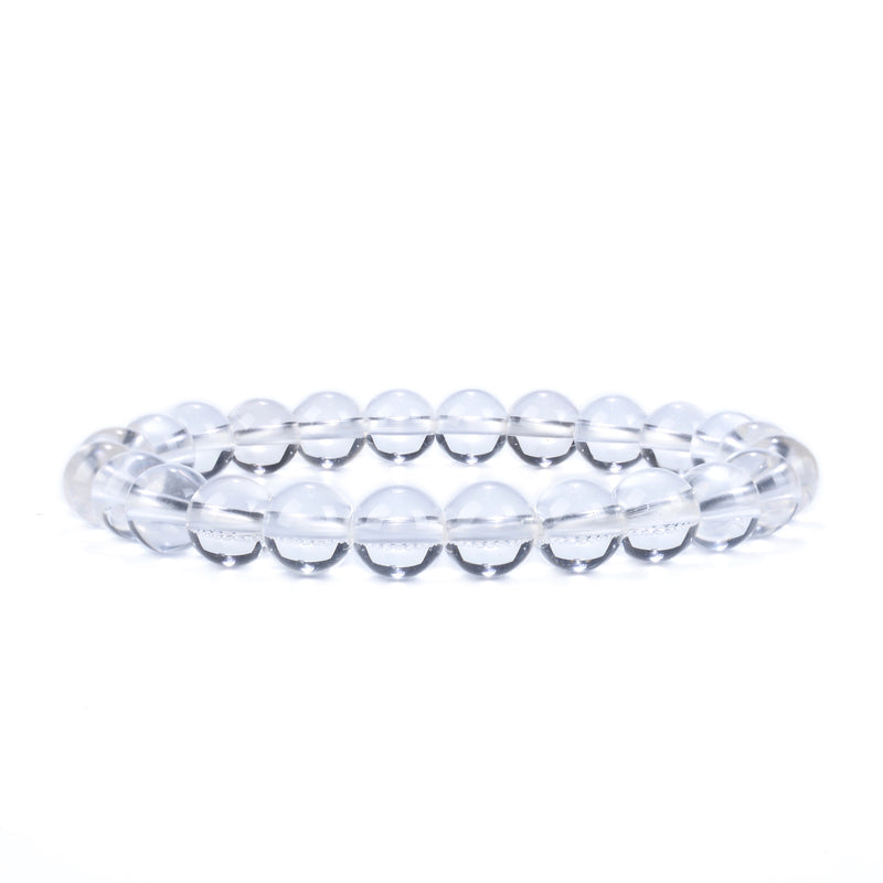 Stretch Bracelet | 8mm Beads (Clear Quartz)