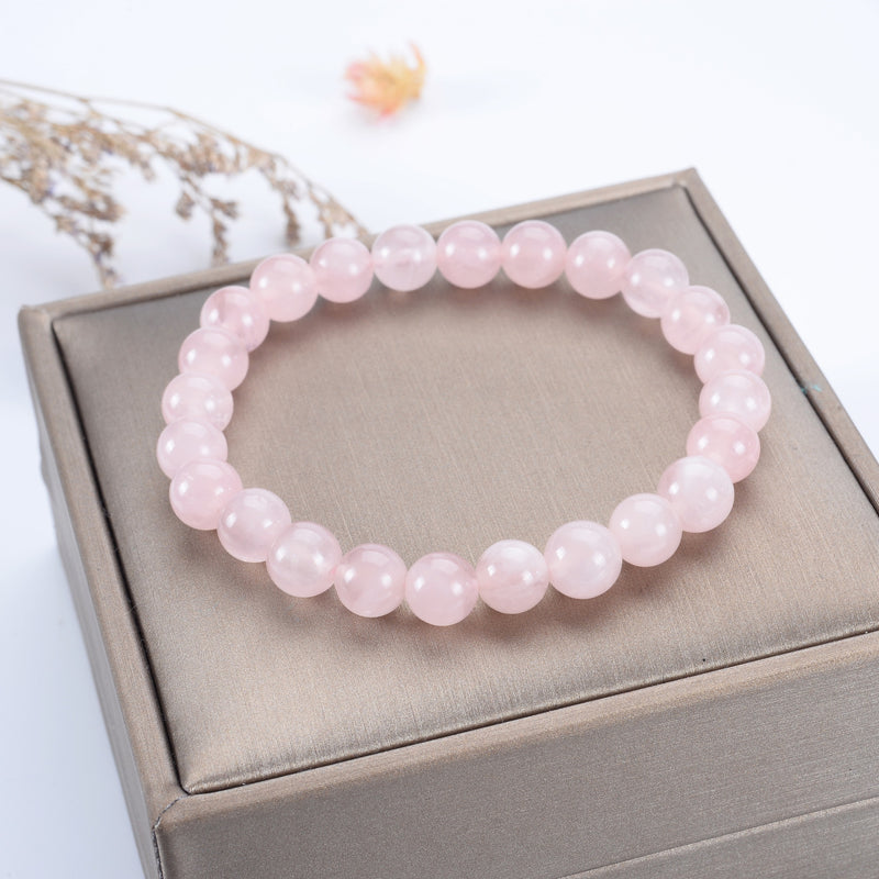 Stretch Bracelet | 8mm Beads (Madagascar Rose Quartz)