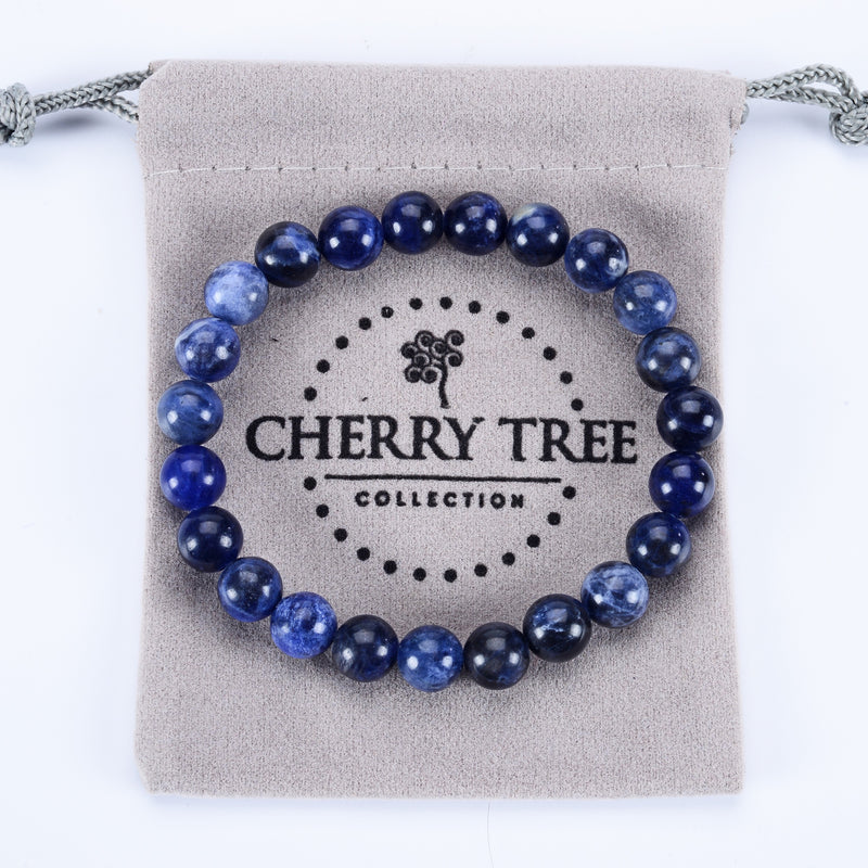 Stretch Bracelet | 8mm Beads (Sodalite)