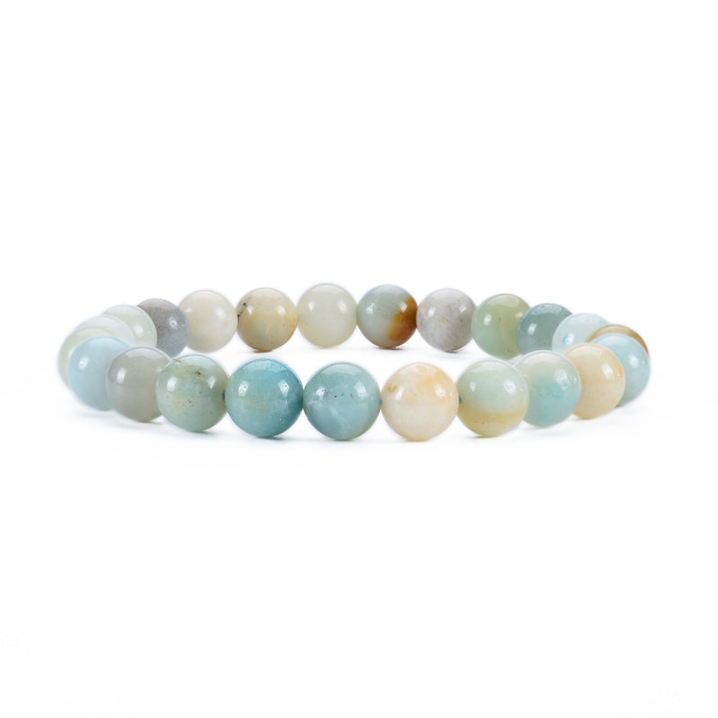 Stretch Bracelet | 8mm Beads (Amazonite Multi-Color)
