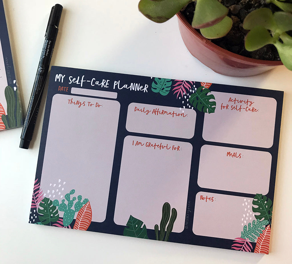 Self-Care Planner Notepad