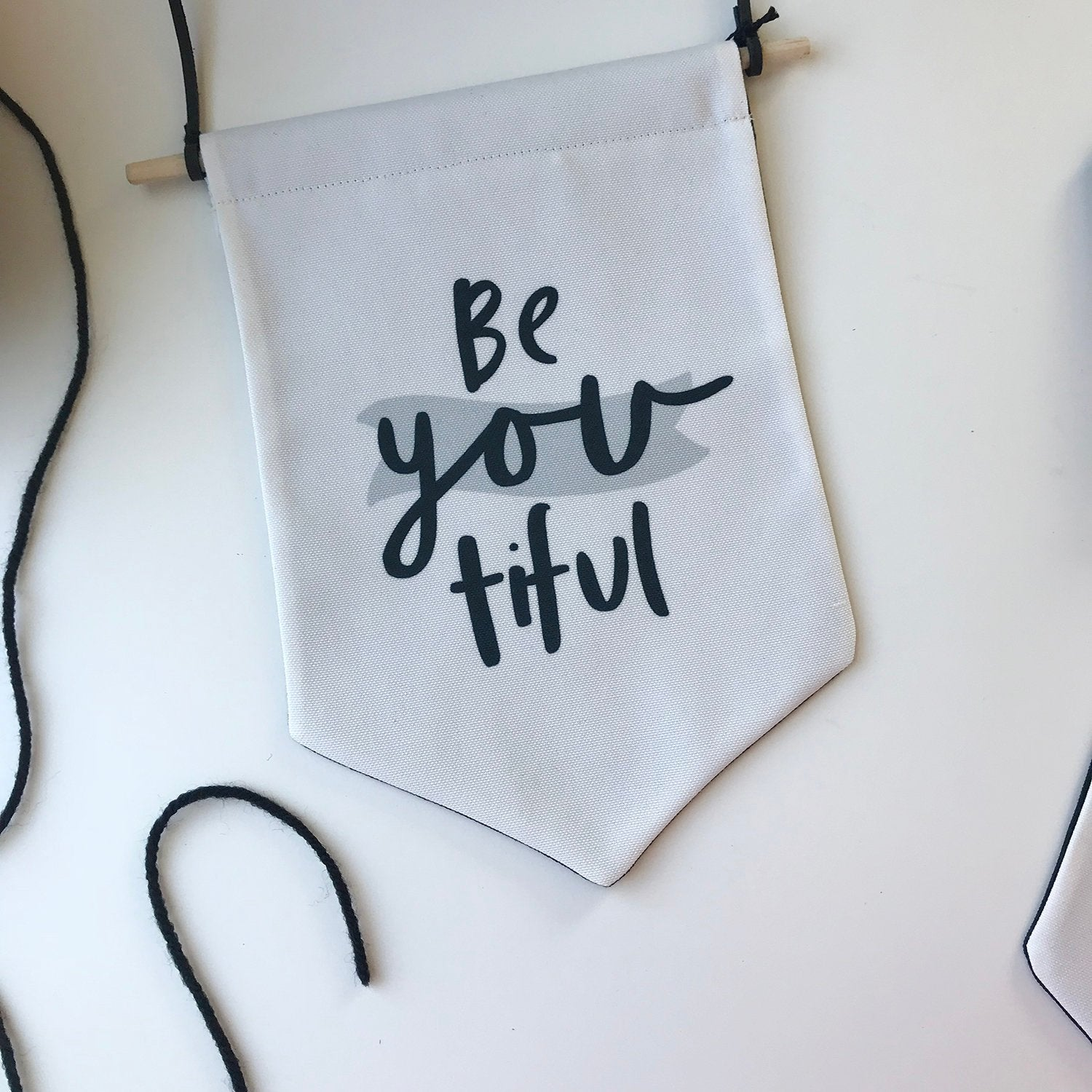 beYOUtiful Canvas Banner