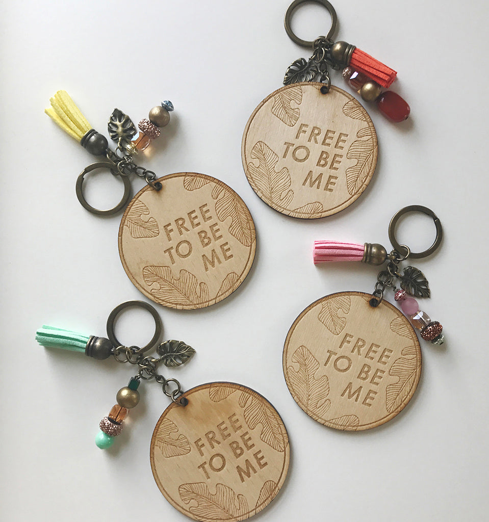 Free To Be Me Keychain