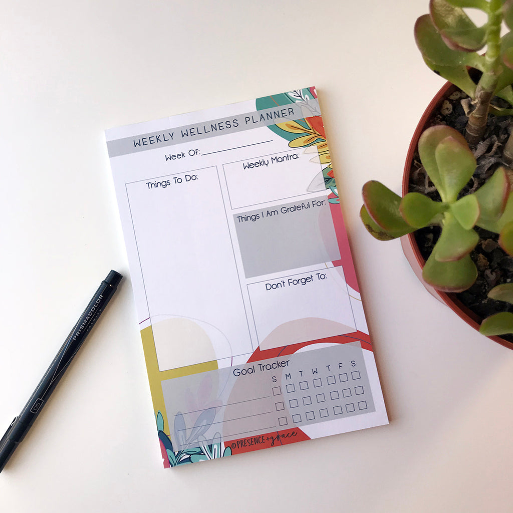 Weekly Wellness Planner Notepad
