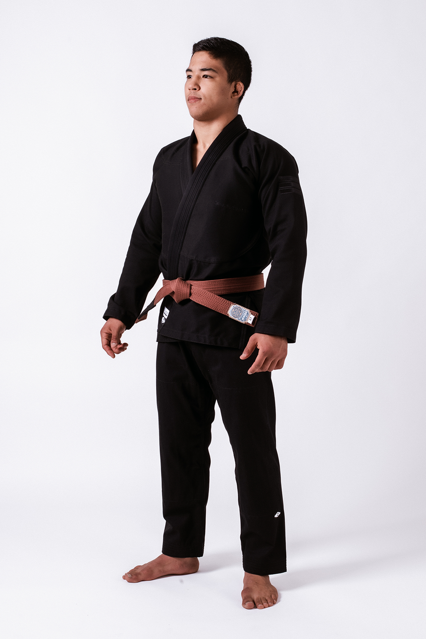 Black Label Jiu Jitsu Gi (Free White Belt) - Black