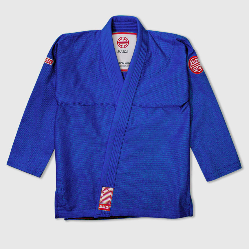 Maeda Red Label 2.0 Kid's Jiu Jitsu Gi ( Free White Belt ) - Blue