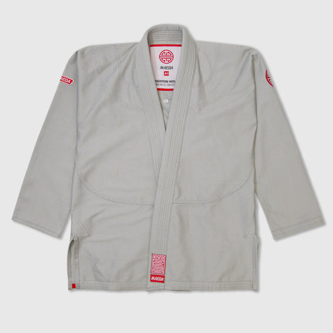 Maeda Red Label 2.0 Kid's Jiu Jitsu Gi ( Free White Belt ) - Grey