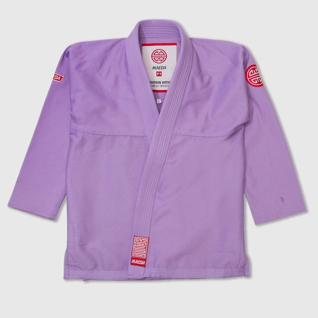 Maeda Red Label 2.0 Kid's Jiu Jitsu Gi ( Free White Belt ) - Purple
