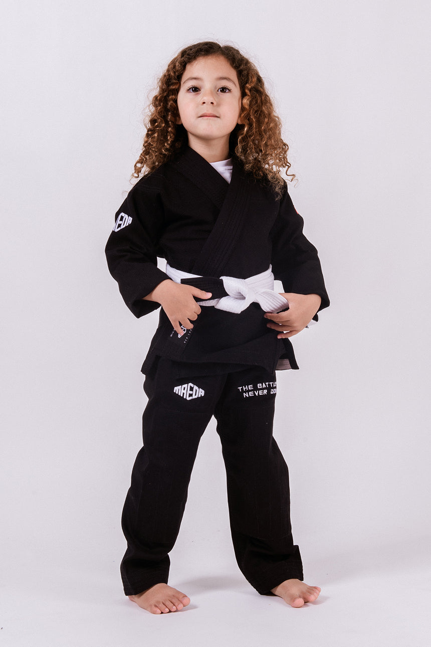 Maeda Red Label 3.0 Kid's Jiu Jitsu Gi (Free White Belt) - Black