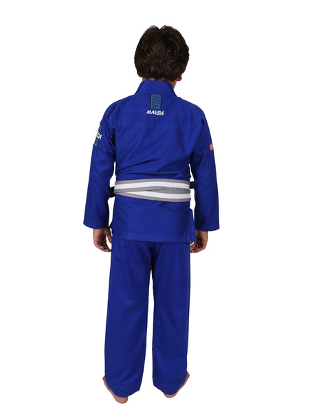 Red Label Kid's Jiu Jitsu Gi - Blue (Free White Belt)