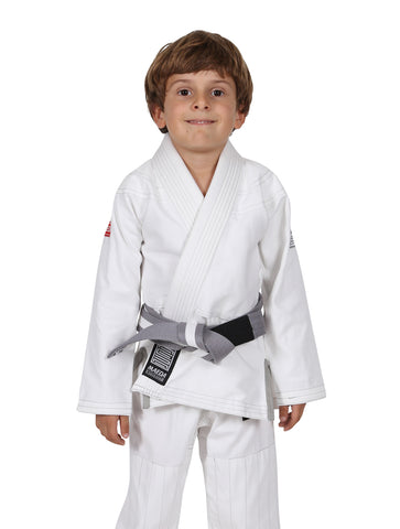 Red Label Kid's Jiu Jitsu Gi - White (Free White Belt)