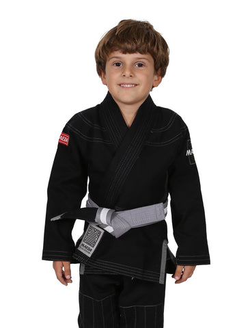 Red Label Kid's Jiu Jitsu Gi - Black (Free White Belt)