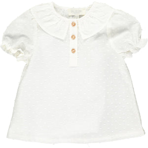 Willamina Top - White Plumetti