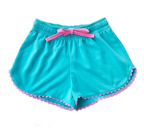 Emily Short - Turquoise/Pink Ric Rac