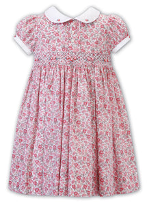 Matilda Dress - Pink/Green Floral