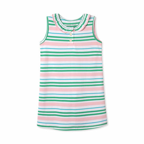 Zoe Sleeveless Dress - Lilly's Pink Multistripe Pima