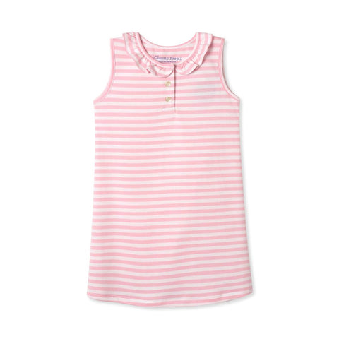 Zoe Sleeveless Dress - Lilly's Pink/White Stripe Pima