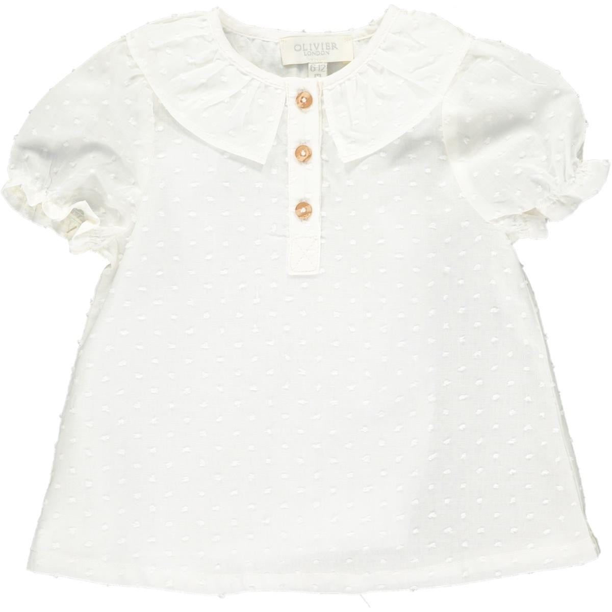 Willamina Top - Plumeti White