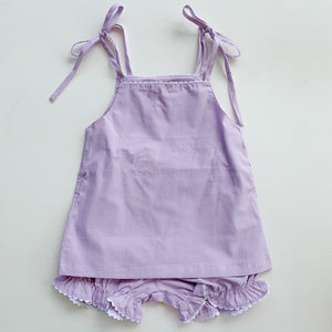 Lilac Gingham/White Ric Rac Two Piece Set