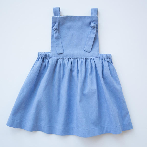 Pinafore Dress - Summer Storm