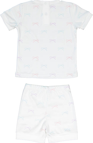 Bow-Tastic Pajama Short Set - (2)