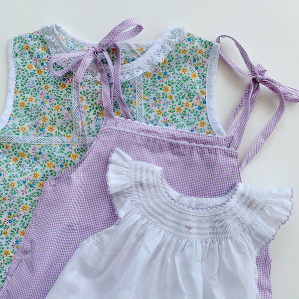 Lilac Gingham/White Ric Rac Two Piece Set - (9m,18m)