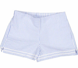 Harper Short - Blue/White Seersucker -(12)