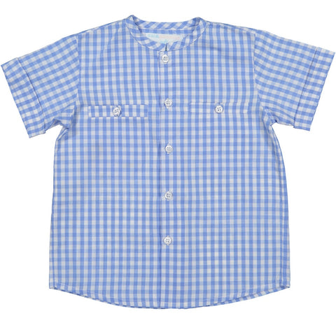 Sunday Best Shirt - Blue Gingham (12m)
