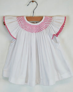 Millie Top - Hot Pink Smocking