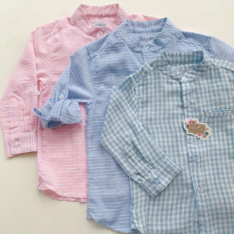 Boys Rosa Stripe Button Down