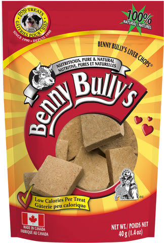 Benny Bullys Liver Chops - Entry - 40 g (1.4 oz) - Pure Beef Liver Dog Treats