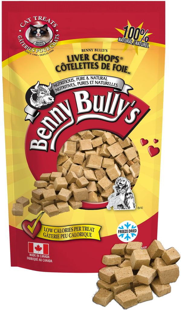 Benny Bullys Liver Chops Cat Treats - Entry - 30 g (1.06 oz)