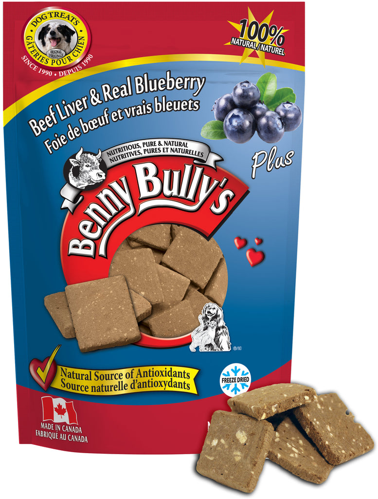 Benny Bullys Liver Plus Blueberry - Bulk - 200 g (7.1 oz) - Dog Treats