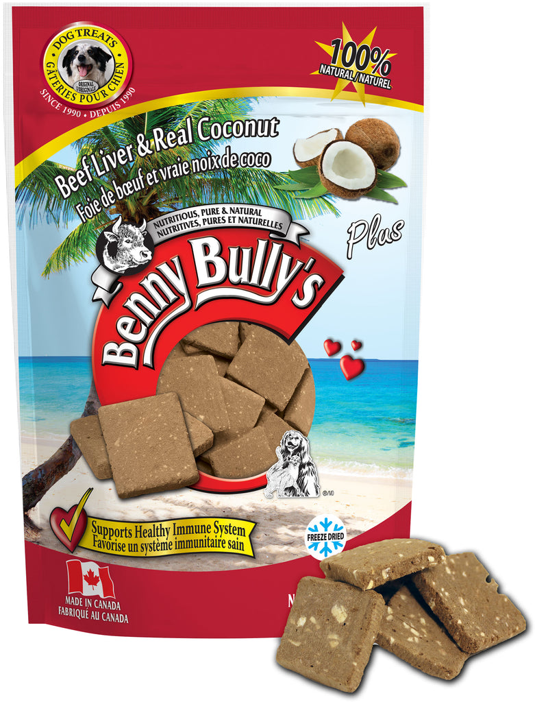 Benny Bullys Liver Plus Coconut - Bulk - 200 g (7.1 oz) - Dog Treats