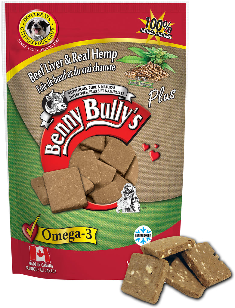 Benny Bullys Liver Plus Hemp - Medium - 58 g (2.1 oz) - Dog Treats
