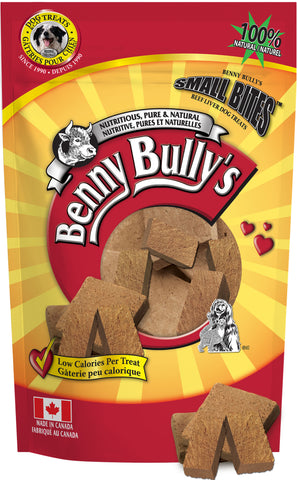 Benny Bullys Liver Chops Small Bites - Economy - 260 g (9.2 oz) - Freeze Dried Pure Beef Liver Dog Treats