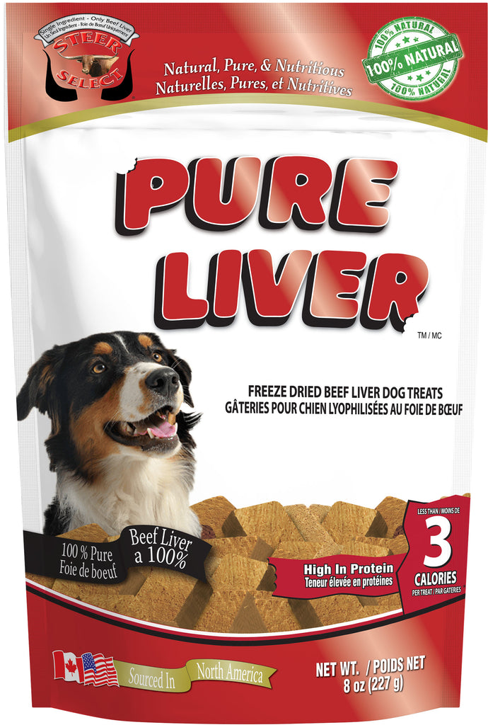 SteerSelect® Pure Beef Liver Dog Treats - 227 gram (8 oz)