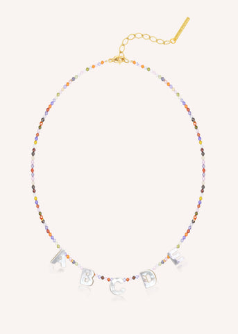 Just say it Necklace - Circonia Mix