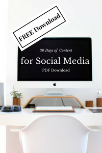 30 Days of Content for Social Media