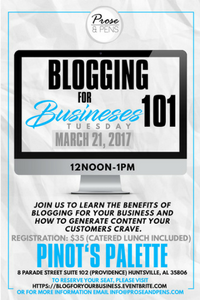 Blogging for Businesses 101 - March 2017