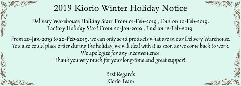 2019 Winter Holiday Notice