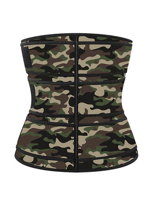 Camouflage-green Neoprene Velcro Sports Waist Trimmer Bones Body Shaper Belt