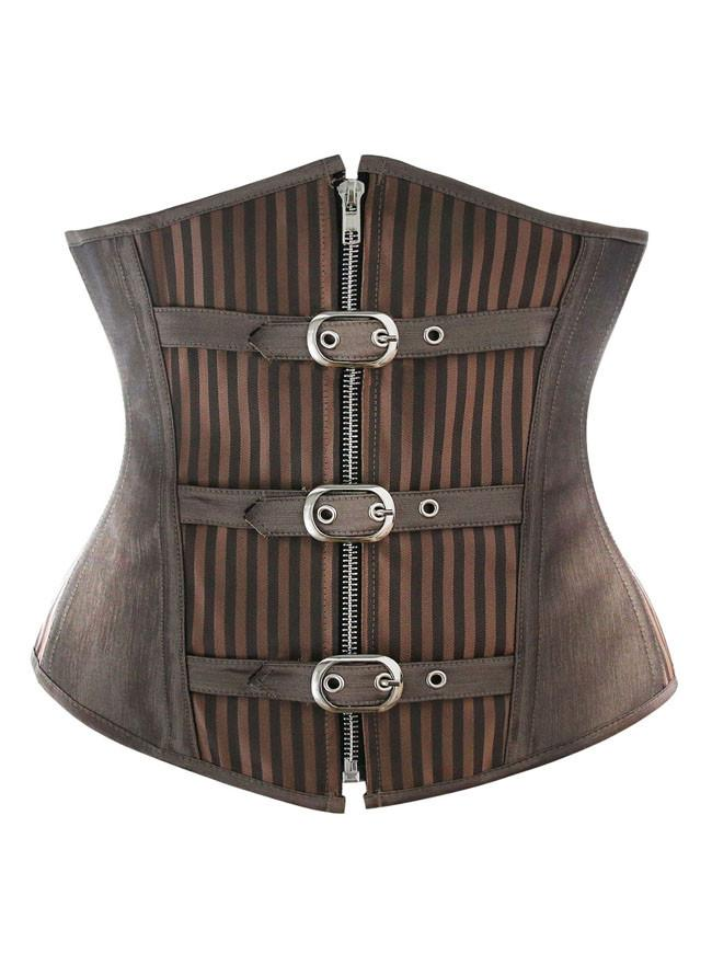 Women's Underbust Waist Training Steel Boned Goth Steampunk Corset
