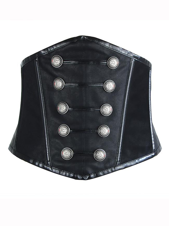 Women's Steampunk Gothic Faux Leather Underbust Corset Waist Belt