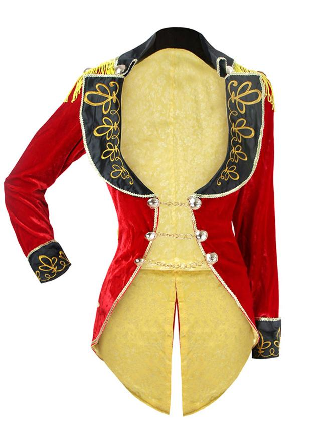 Women's Deluxe Big Top Tease Magician Ringmaster Costume Tailcoat Jacket